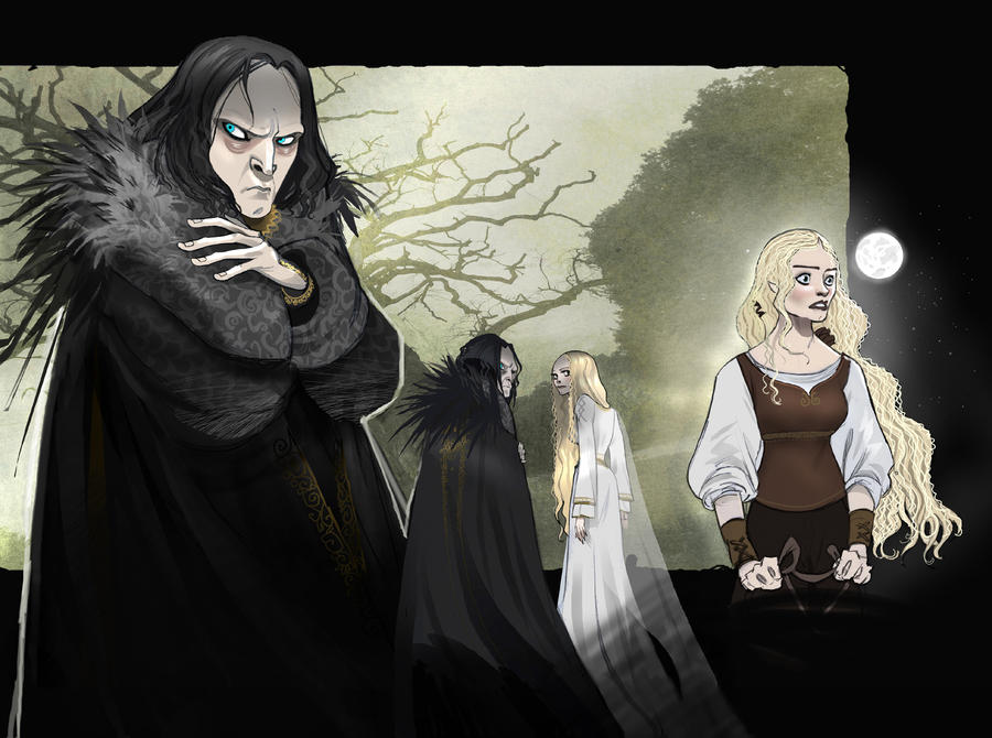 Grima and Eowyn  LOTR by Sally-Avernier