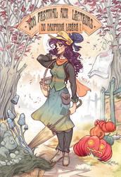Autumn Lady by Sally-Avernier