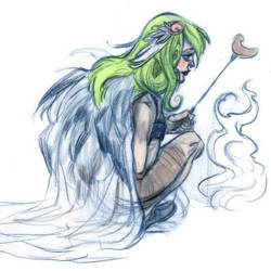 sketch girl by Sally-Avernier