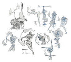 Dance sketches.