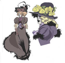 Victorian characters by Sally-Avernier
