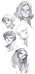 smallville characters by Sally-Avernier