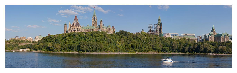 Ottawa Parliament boat view by AmirNasher