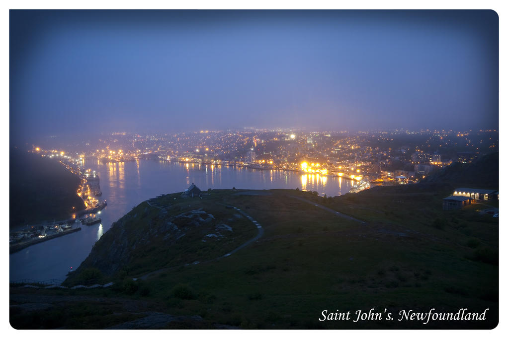 Night view of Saint Johns by AmirNasher