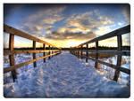 Walking towards sunset...