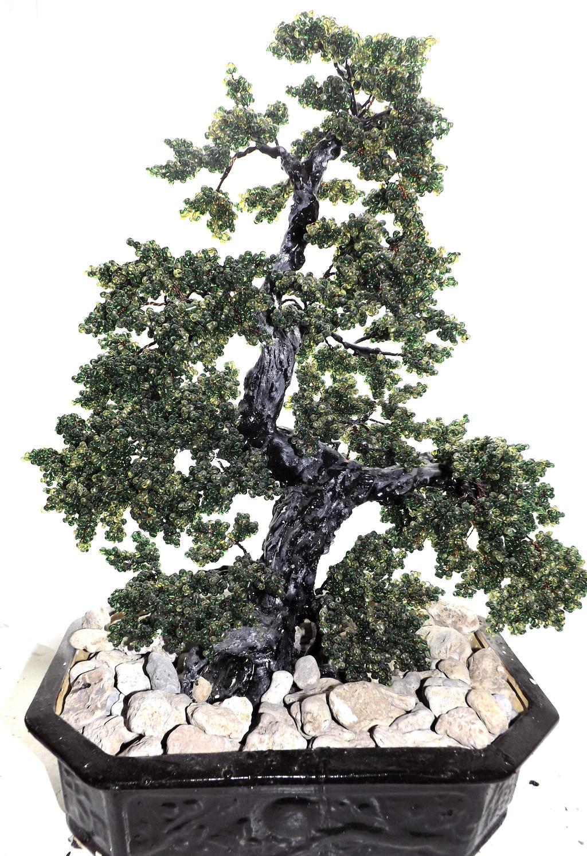 Bonsai Beaded Tree by WoolArtToys