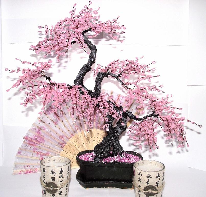 Sakura Beaded Tree by WoolArtToys