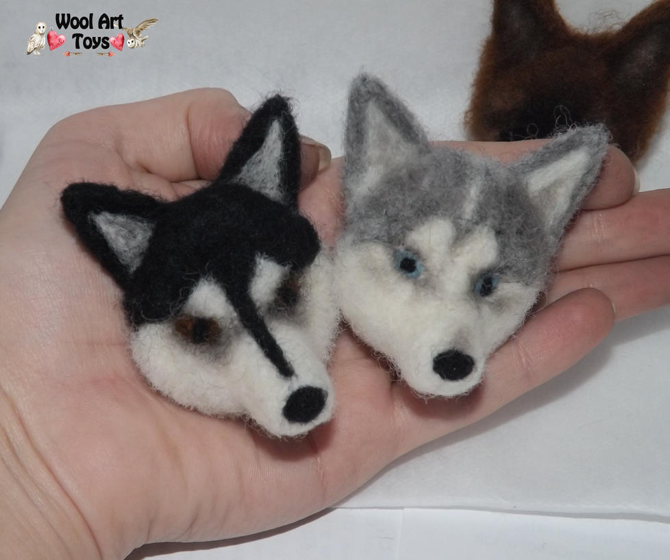 Miniature Sculpture of your dog. Needle Felted Dog  Needle_felted_magnets_by_woolarttoys-d8a9my6