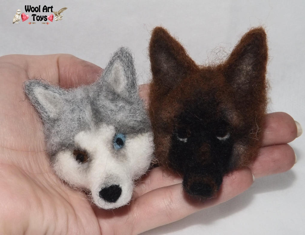 Miniature Sculpture of your dog. Needle Felted Dog  Needle_felted_magnets_by_woolarttoys-d8a9n08