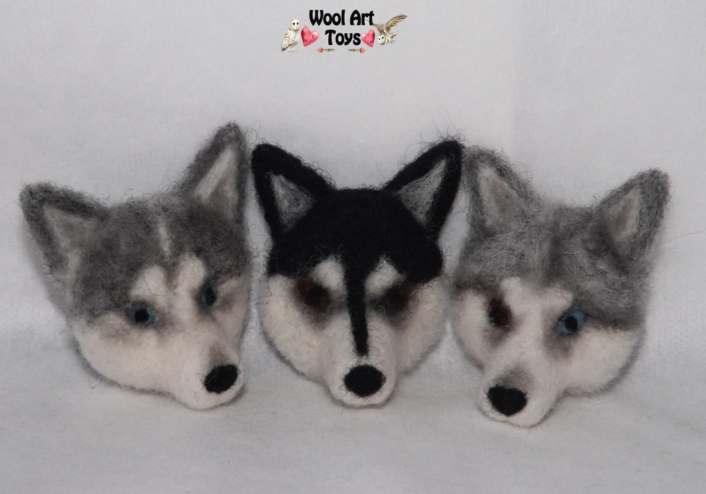 Miniature Sculpture of your dog. Needle Felted Dog  Needle_felted_magnets_by_woolarttoys-d8a9n1r