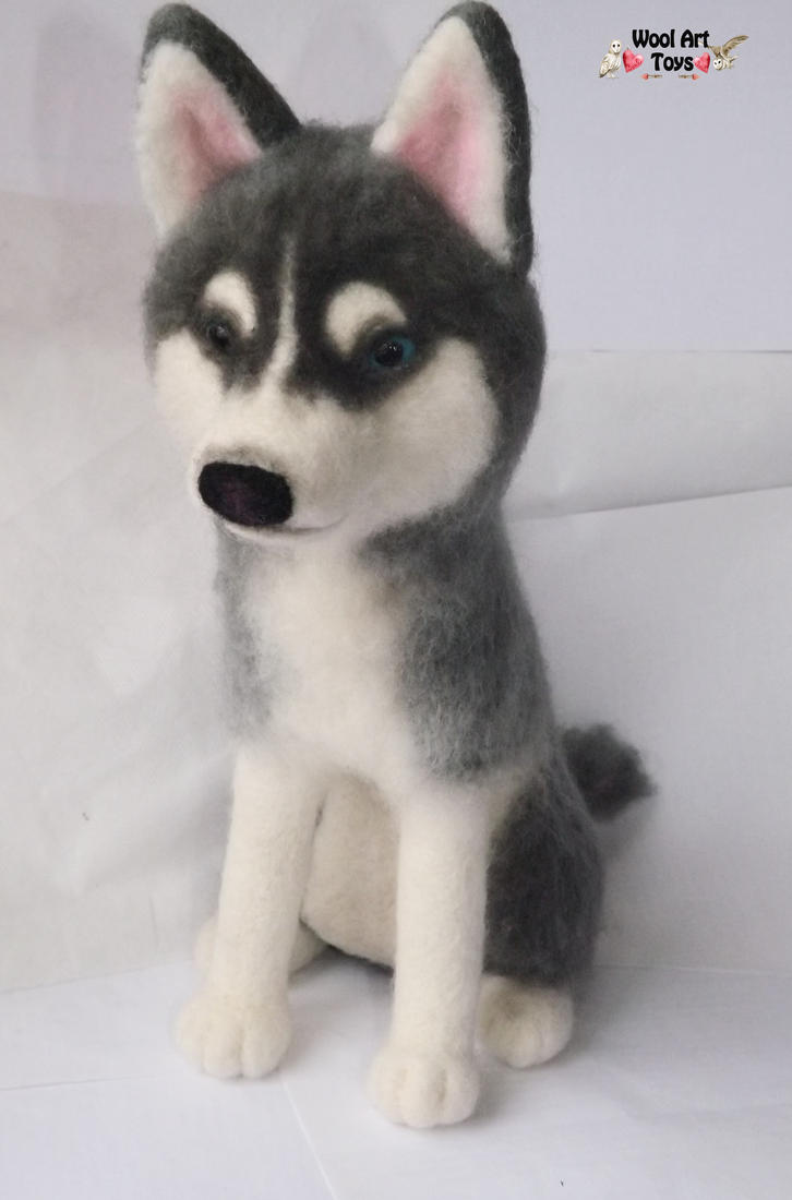 Miniature Sculpture of your dog. Needle Felted Dog  - Page 2 Needle_felted_siberian_husky___prince_by_woolarttoys-d8arbxx