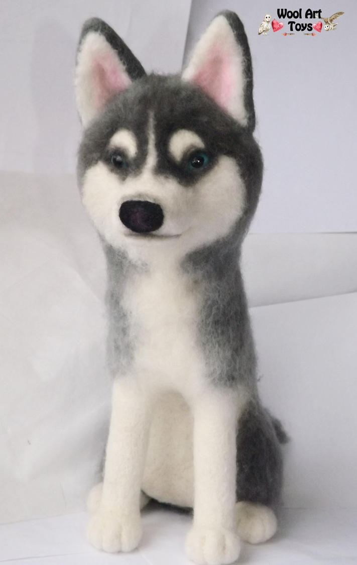 Miniature Sculpture of your dog. Needle Felted Dog  - Page 2 Needle_felted_siberian_husky___prince_by_woolarttoys-d8arbzt