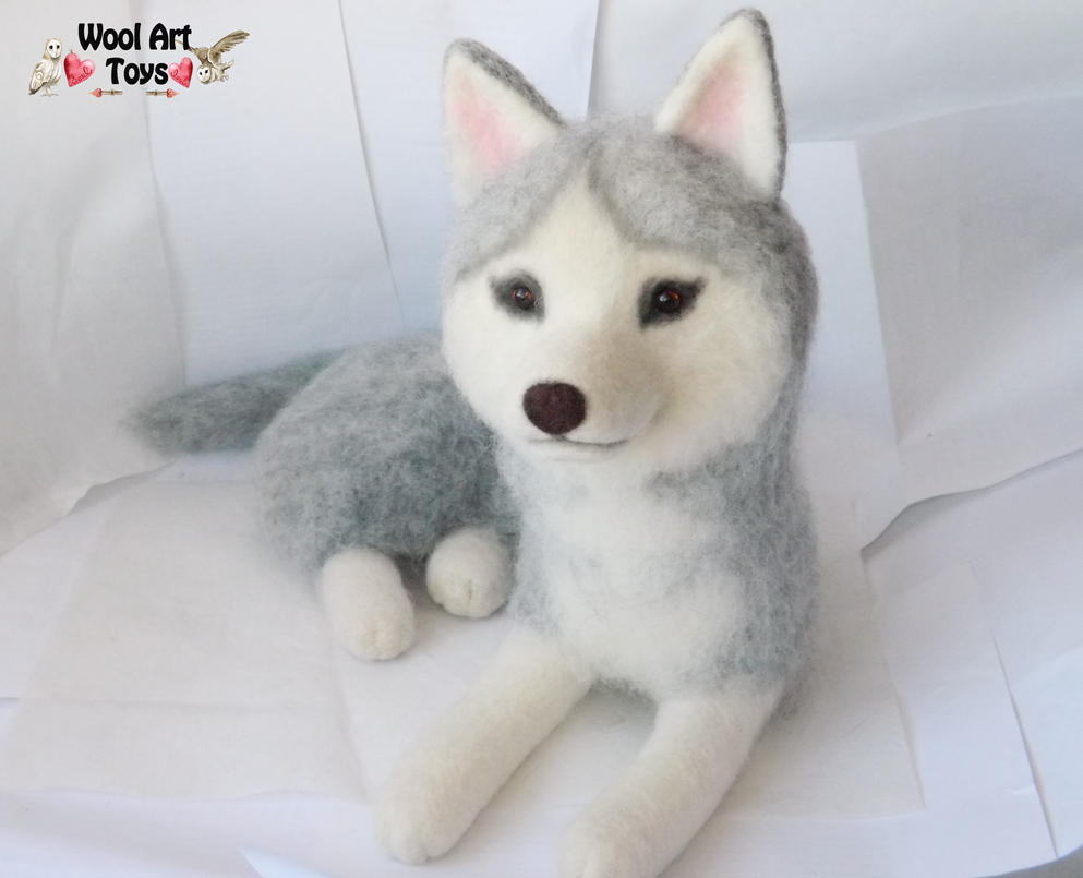 Miniature Sculpture of your dog. Needle Felted Dog  - Page 2 Needle_felted_siberian_husky___sakary_by_woolarttoys-d8bjexz