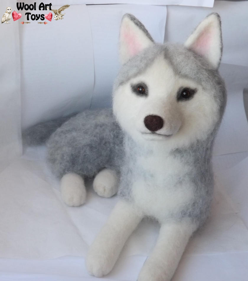 Miniature Sculpture of your dog. Needle Felted Dog  - Page 2 Needle_felted_siberian_husky___sakary_by_woolarttoys-d8bjf8v