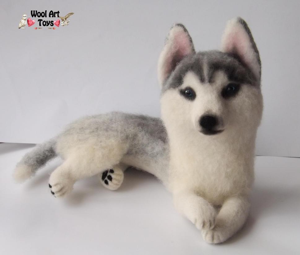 Miniature Sculpture of your dog. Needle Felted Dog  - Page 2 Siberian_husky_oskar___artist_needle_felted_dog_by_woolarttoys-d8jfr6j
