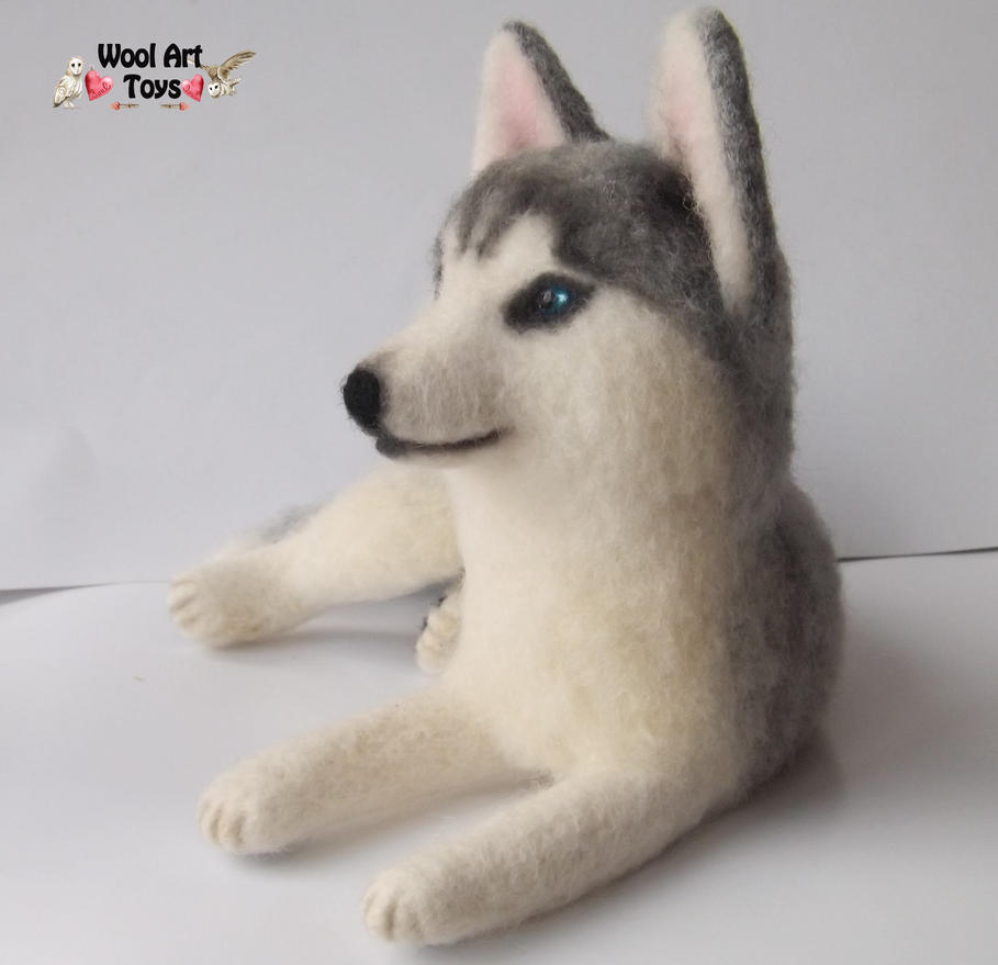 Miniature Sculpture of your dog. Needle Felted Dog  - Page 2 Siberian_husky_oskar___artist_needle_felted_dog_by_woolarttoys-d8jfr9z