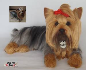 Mochan Yorksire Terrier Needle felted sculpture