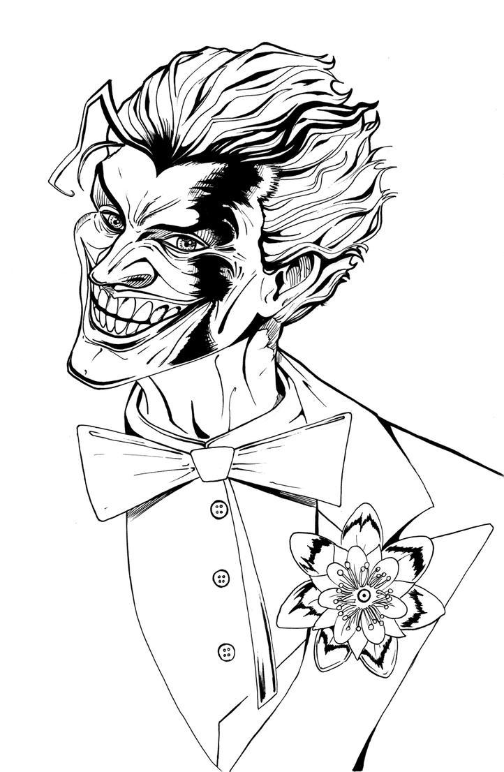 the joker portrait lineart by theharmine on deviantart