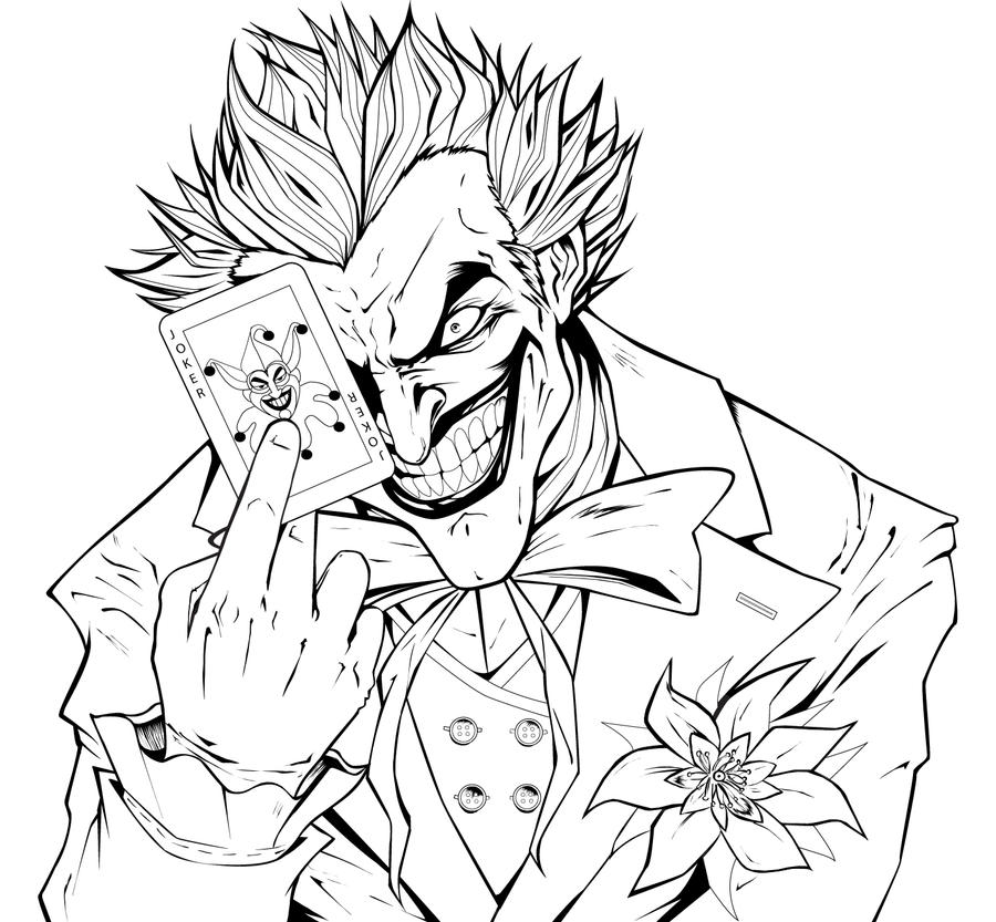 The Joker - Lineart by theharmine