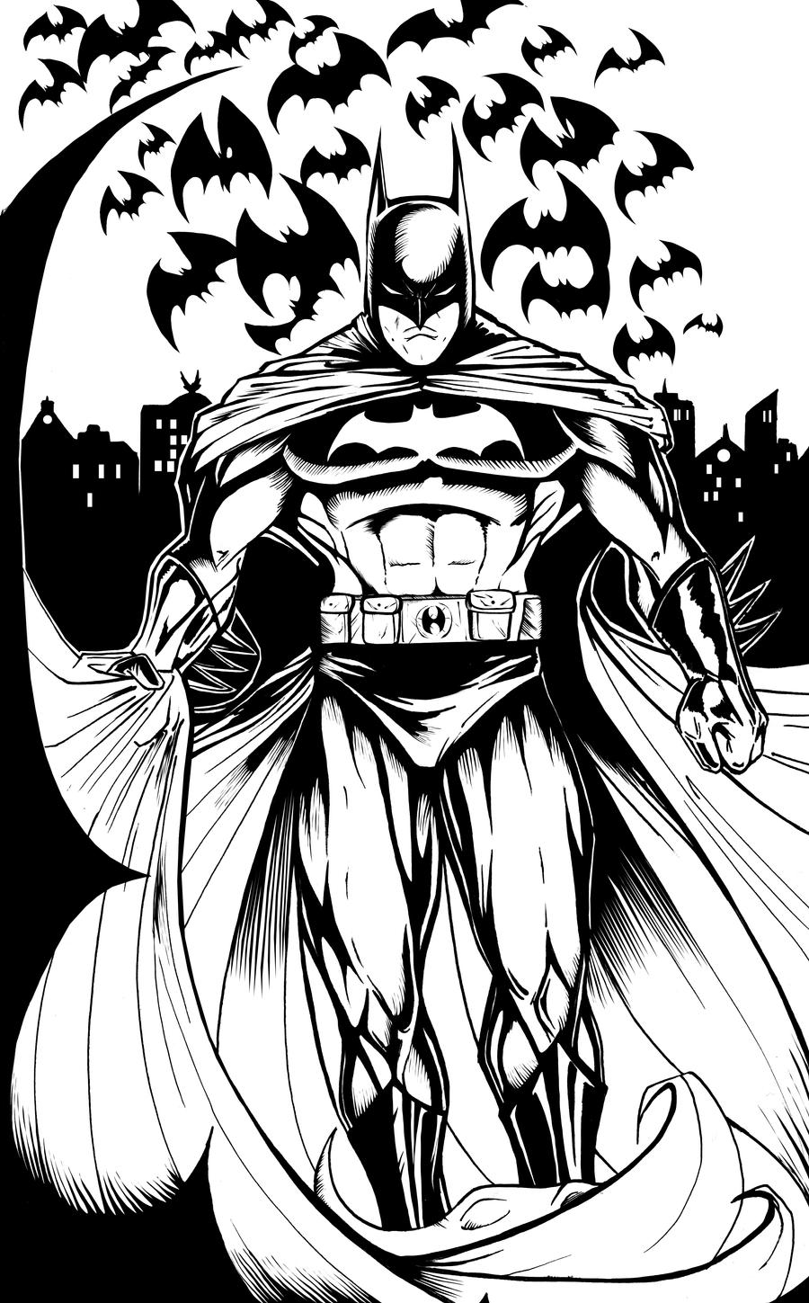 The Line Artwork : The batman lineart by theharmine on deviantart