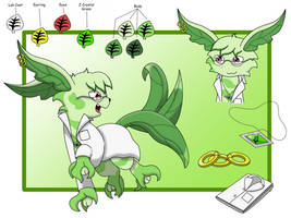 ( Contest entry ) Kiwi, the Beta leafeon by Umbry17