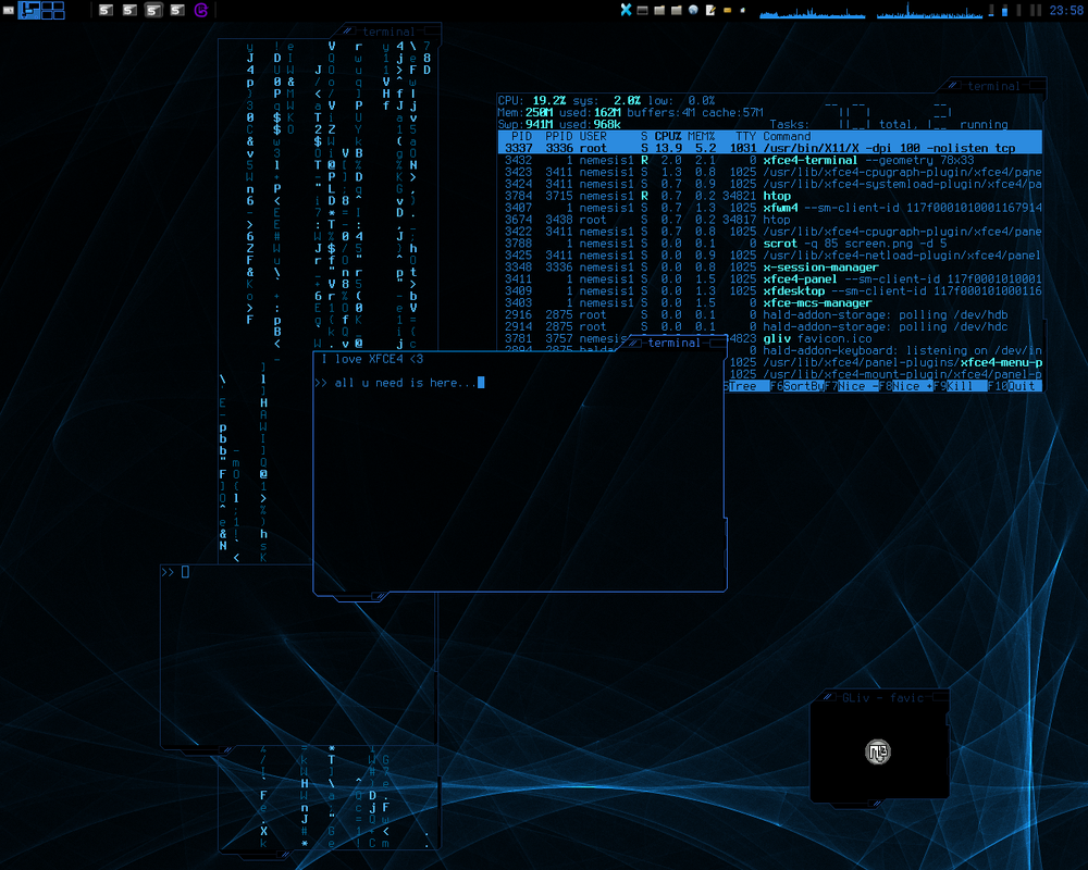 .::cyber_desktop_v0.01 by Nemesis13Art