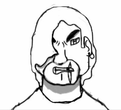 Random Sketch #9 by simoloita