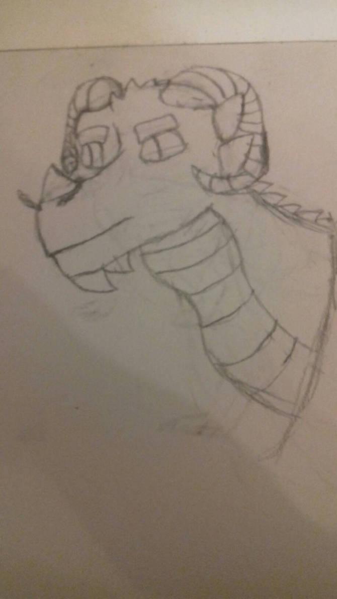 Random Dragon Head Sketch by simoloita