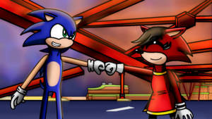 (SR) Pucca and Sonic the Hedgehog Fist Bump