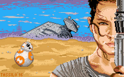 The Force awakens - Pixelart by tassilo