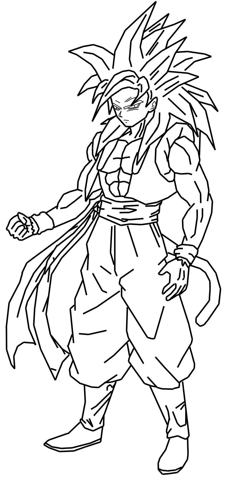 Similiar Gohan Ssj4 Coloring Pages Keywords Coloring Coloring Pages