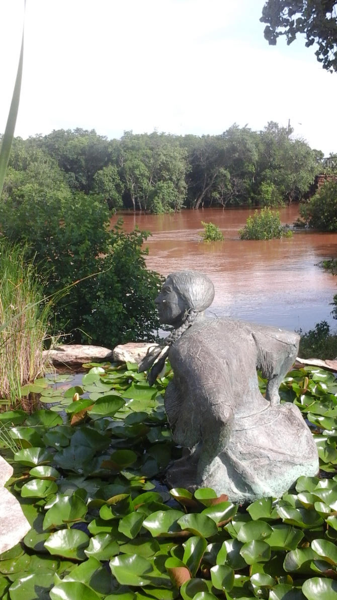 Flood 2015 Wichita River Weecheta Sculpture 0523 by wiz2525