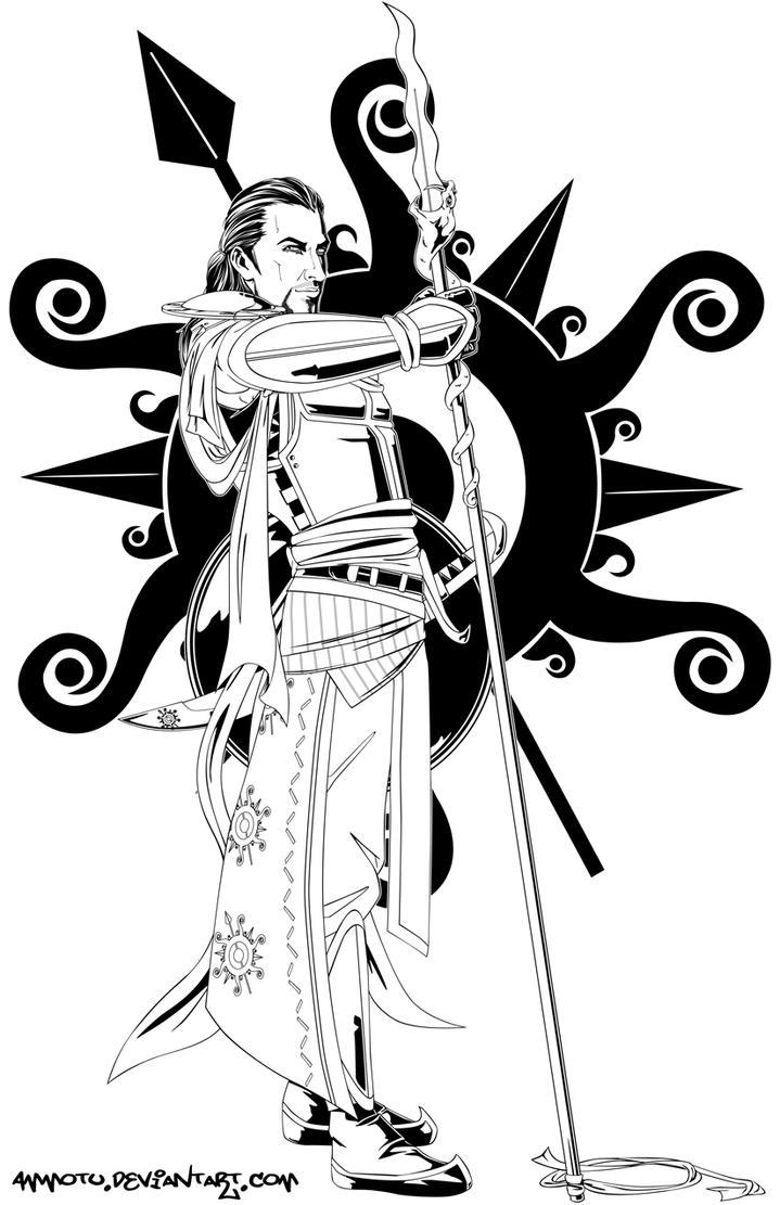 Line Art Game : Oberyn martell by ammotu on deviantart