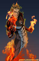 the Human Torch by Ammotu