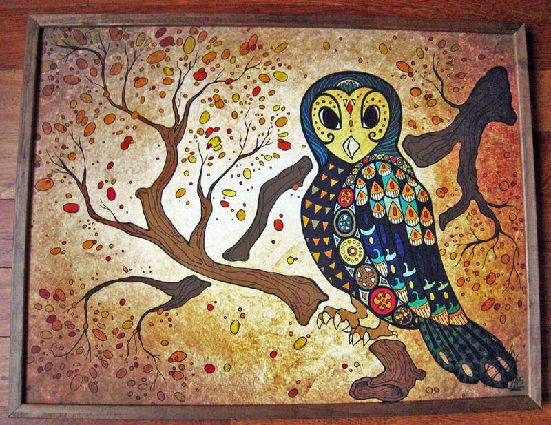 Framed Babka Owl by Shadow-Of-Nights