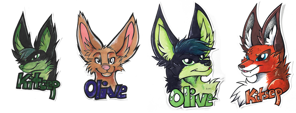 Badges - Olivexan Kitsep by Shadow-Of-Nights