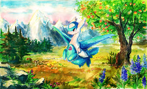 Latios Painting by Tymkiev