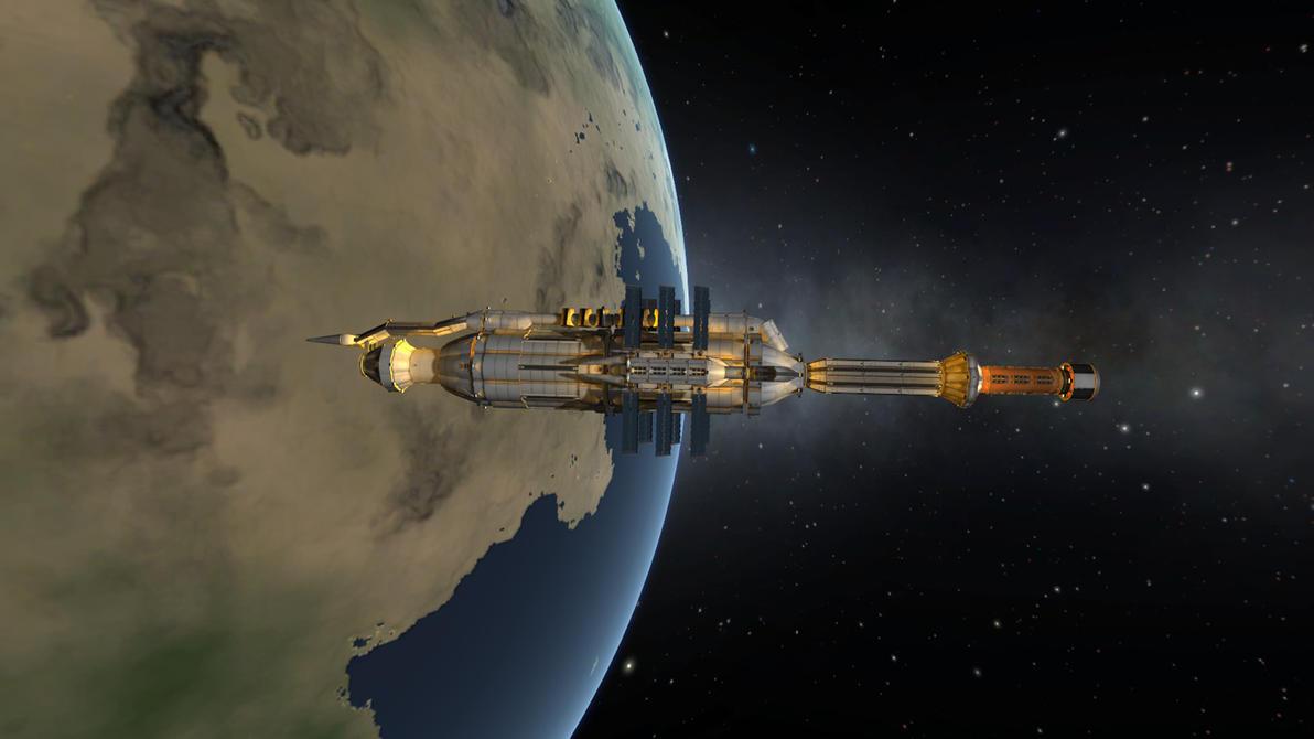 Babylon 5 in Kerbal Space Program game by Konargus