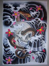 Snake N Skull by Elbaco