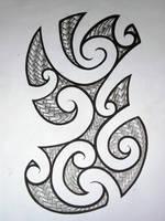 Maori Half Sleeve Design by Elbaco