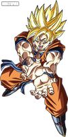 Goku Super Saiyan Kamehameha 2 - Render by IgnisWind