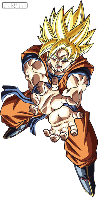 Goku Super Saiyan Kamehameha 2 - Render by IgnisWind on ... | 334 x 673 png 881kB