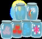 Mane 6 Cutie Marks In Jars