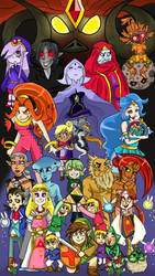 Zelda 25th Anniversary by LittleGreenHat