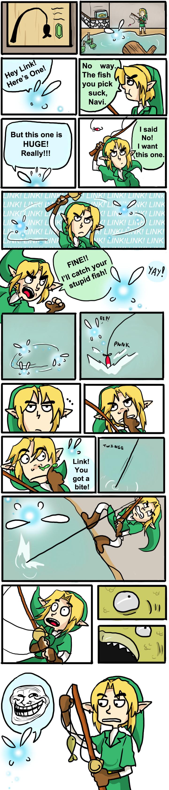Troll Fishing by LittleGreenHat