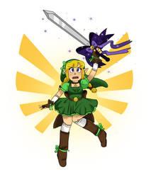 Magical Girl - Link by LittleGreenHat