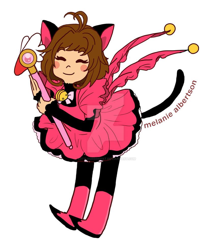 Sakura Kitty by LittleGreenHat