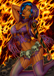 CP_132 - Witch Arthenny by LCFreitas Coloured by noitcartsbalatot