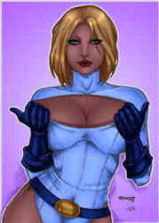 CP_134 - Power Girl by Rivald Coloured by noitcartsbalatot