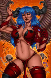 CP_135 - Angelus by Fran Coloured by noitcartsbalatot